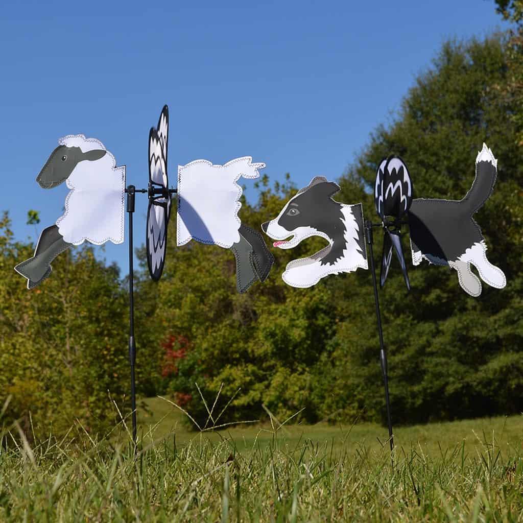 Border Collie Garden Wind Spinners